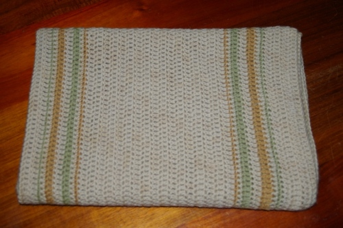 ORganic Baby Blanket - Rowan Purelife in Parsely, Horsetail and Alder Buckthorn